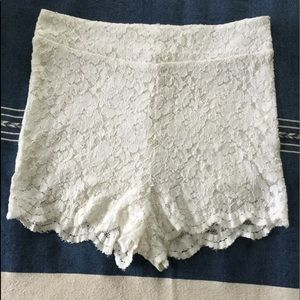 Free People High Waisted Lace Shorts